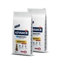Pachet 2 x Advance Dog Adult Miel si Orez 12 kg
