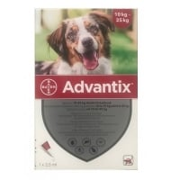 Advantix 250 Caini, 10-25 kg, 1 pipeta