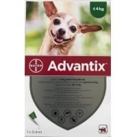 Advantix 40 Caini, 1.5 - 4 kg, 1 pipeta