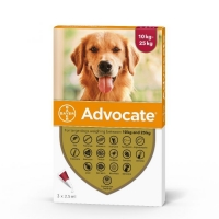 Advocate Caine, 10 - 25 kg, 3 pipete