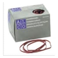 Elastice pentru bani, D100 x 5mm,  500g/cutie, ALCO