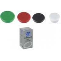 Magneti 13mm, 10/cutie, ALCO - verde