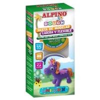 Kit 3 culori plastelina magica, ALPINO Unicorn