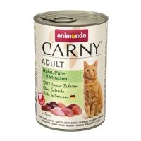 CARNY, Vită, Curcan şi Iepure, conservă hrană umedă pentru pisici, (In aspic), 400g