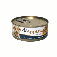 Applaws Dog Adult Piept de Pui  Somon si Legume 156g
