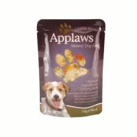 Pachet 4 buc Applaws Dog Adult Pui Legume si Ginseng plic 150 g
