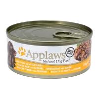 APPLAWS, Vită și Legume, conservă hrană umedă câini, (în supă), 156g