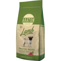 Pachet 2 x Araton Dog Junior Lamb&Rice 15kg