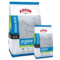 Arion Original Puppy Medium cu Pui si Orez 12 kg + 3 kg