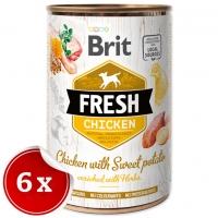 Pachet Brit Fresh Chicken with Sweet Potato 6x400 g