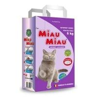 Asternut Igienic Bentonita Miau Miau Lavanda, 6 Kg + 1 Kg Cadou