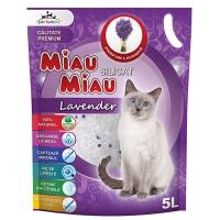 Pachet 4 Buc x Asternut igienic Miau Miau Lavanda Silicat, 5 l