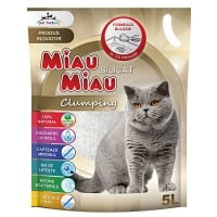 Nisip Miau Miau Silicat Clumping, 5 L