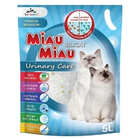 Pachet 4 x Nisip Miau Miau Silicat Urinary Care, 5 L
