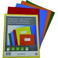 Coperta PP, pentru caiet A5, 5 buc/set, AURORA - transparent color asortate