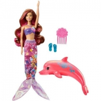Papusa Barbie Sirena cu Delfin