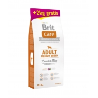 Brit Care Adult Medium Breed Lamb & Rice 12 + 2 kg