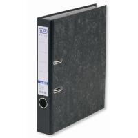Biblioraft A4, margine metalica, 50mm, ELBA - marmorat cu cotor negru