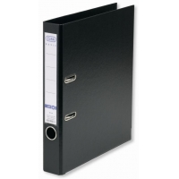 Biblioraft A4, plastifiat PP/PP, margine metalica, 50 mm, ELBA Rado Basic - negru