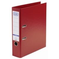 Biblioraft A4, plastifiat PP/PP, margine metalica, 80 mm, ELBA Rado Basic - rosu