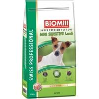 Biomill Swiss Professional Mini Adult Sensitive Miel, 12 Kg