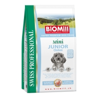 Biomill Swiss Professional Mini Junior cu Pui 8 kg