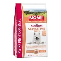 Biomill Swiss Professional Medium Adult Sensitive cu Somon 12 kg
