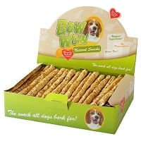 Bow Wow Natural Stick cu Vita si Plaman, 22 cm, 50 buc