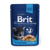 BRIT Premium Kitten, Pui, plic hrană umedă pisici junior, (în sos), 100g