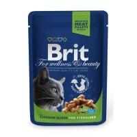 BRIT Premium Sterilised, Pui, plic hrană umedă pisici sterilizate, (în sos), 100g