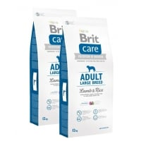 Pachet 2 x Brit Care Adult Large Breed Miel si Orez 12 kg