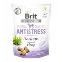 BRIT Care Functional Snack Antistress, Creveți cu Cânepă, recompense funționale fără cereale câini, antistres, 150g