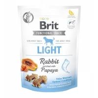 BRIT Care Functional Snack Light, Iepure cu Papaya, recompense funționale fără cereale câini, managemantul greutății, 150g