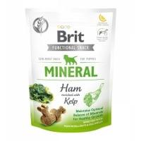 BRIT Care Functional Snack Puppy Mineral, Șuncă cu Kelp, recompense funționale fără cereale câini junior, minerale, 150g