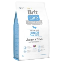 Brit Care Grain Free Junior Large Breed Somon si Cartofi, 3 kg