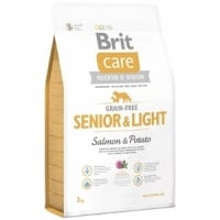 Brit Care Grain Free Senior Somon si Cartofi, 3 kg