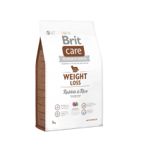 Brit Care Weight Loss cu Iepure si Orez, 3 kg