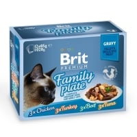 Brit Cat Delicate Dinner Plate in Gravy, Multipack, 12x85 g