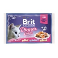 Brit Cat Multipack Delicate Dinner Plate in Jelly 4 x 85 g