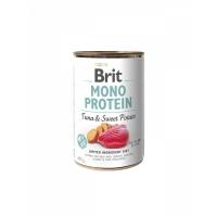 BRIT Mono Protein, Hrana umeda pentru caini, cu Ton si Cartof dulce, 400 g