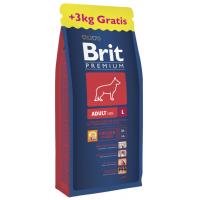 Brit Premium Adult L 15 kg+3kg