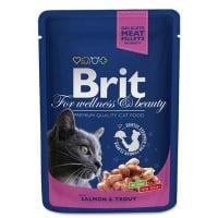 Brit Prem.Cat Plic cu Carne de Somon si Pastrav, 100 g