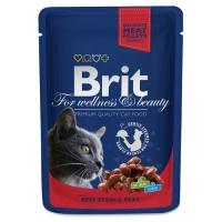 Brit Premium Cat cu Vita si Mazare, Plic, 100 g