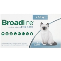 Broadline Cat S, < 2.5 kg, 3 pipete