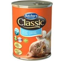 Pachet Butcher's Cat Classic, Pastrav, 6x400 g