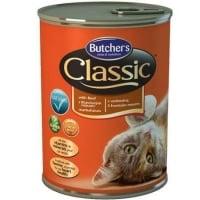 Pachet Butcher's Cat Classic, Vita, 6x400 g