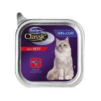 Pachet Butcher's Cat Pro S, Skin&Coat, Vita, 6x100 g