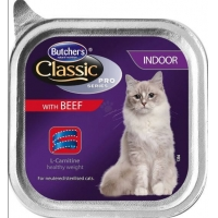 Pachet Butcher's Cat Pro S Indoor, Vita, 6x100 g