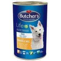 Butcher's Dog Life Pate, Pui si Orez, 1200 g
