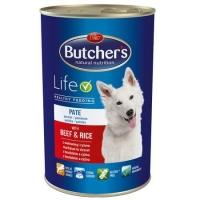 Butcher's Dog Life Pate, Vita si Orez, 1200 g
